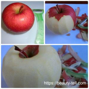 ピーラーでりんごの皮むき