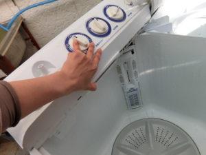 二層式洗濯機の分解